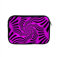 Black Spral Stripes Pink Apple Macbook Pro 15  Zipper Case