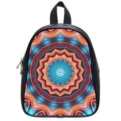 Blue Feather Mandala School Bag (small)