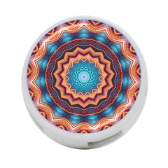 Blue Feather Mandala 4 Port Usb Hub (two Sides)
