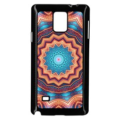 Blue Feather Mandala Samsung Galaxy Note 4 Case (black)