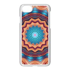 Blue Feather Mandala Apple Iphone 7 Seamless Case (white)