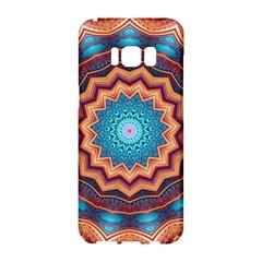 Blue Feather Mandala Samsung Galaxy S8 Hardshell Case