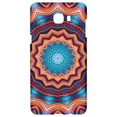 Blue Feather Mandala Samsung C9 Pro Hardshell Case