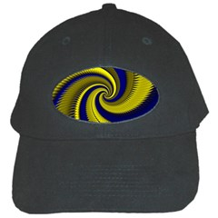 Blue Gold Dragon Spiral Black Cap