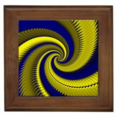 Blue Gold Dragon Spiral Framed Tiles