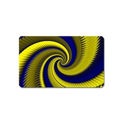 Blue Gold Dragon Spiral Magnet (name Card)
