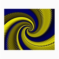 Blue Gold Dragon Spiral Small Glasses Cloth (2 Side)