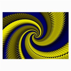 Blue Gold Dragon Spiral Large Glasses Cloth (2 Side)