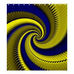 Blue Gold Dragon Spiral Shower Curtain 66  X 72  (large)