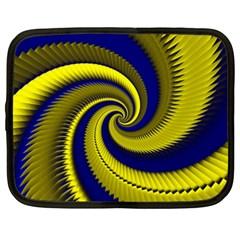 Blue Gold Dragon Spiral Netbook Case (xxl)