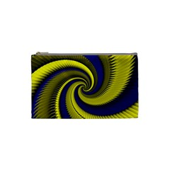 Blue Gold Dragon Spiral Cosmetic Bag (small)