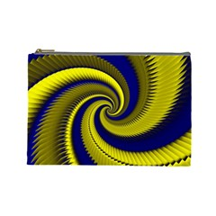 Blue Gold Dragon Spiral Cosmetic Bag (large)