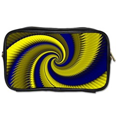 Blue Gold Dragon Spiral Toiletries Bags 2 Side