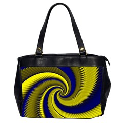 Blue Gold Dragon Spiral Office Handbags (2 Sides)