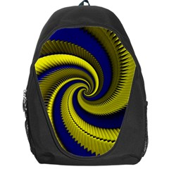 Blue Gold Dragon Spiral Backpack Bag