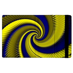 Blue Gold Dragon Spiral Apple Ipad 2 Flip Case