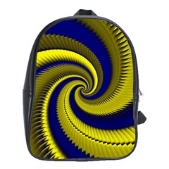 Blue Gold Dragon Spiral School Bag (xl)