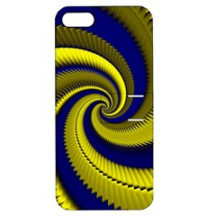 Blue Gold Dragon Spiral Apple Iphone 5 Hardshell Case With Stand