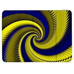 Blue Gold Dragon Spiral Samsung Galaxy Tab 7  P1000 Flip Case