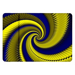Blue Gold Dragon Spiral Samsung Galaxy Tab 8 9  P7300 Flip Case