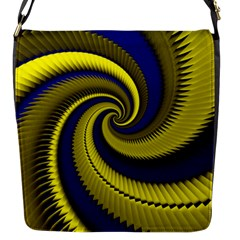 Blue Gold Dragon Spiral Flap Messenger Bag (s)