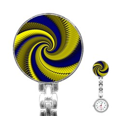 Blue Gold Dragon Spiral Stainless Steel Nurses Watch