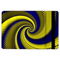 Blue Gold Dragon Spiral Ipad Air 2 Flip