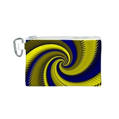 Blue Gold Dragon Spiral Canvas Cosmetic Bag (s)