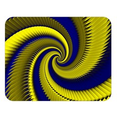 Blue Gold Dragon Spiral Double Sided Flano Blanket (large)