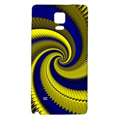 Blue Gold Dragon Spiral Galaxy Note 4 Back Case