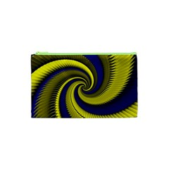 Blue Gold Dragon Spiral Cosmetic Bag (xs)