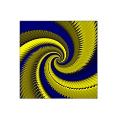 Blue Gold Dragon Spiral Satin Bandana Scarf