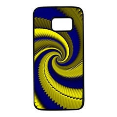Blue Gold Dragon Spiral Samsung Galaxy S7 Black Seamless Case