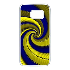 Blue Gold Dragon Spiral Samsung Galaxy S7 White Seamless Case