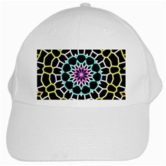 Colored Window Mandala White Cap