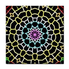 Colored Window Mandala Tile Coasters