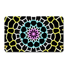 Colored Window Mandala Magnet (rectangular)