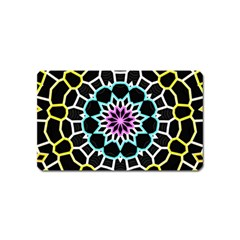 Colored Window Mandala Magnet (name Card)