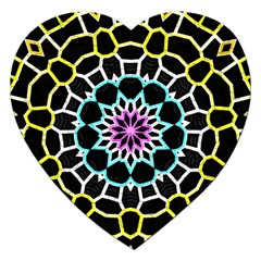 Colored Window Mandala Jigsaw Puzzle (heart)