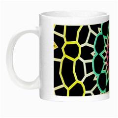 Colored Window Mandala Night Luminous Mugs