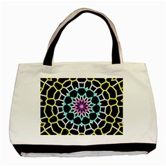 Colored Window Mandala Basic Tote Bag