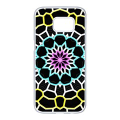 Colored Window Mandala Samsung Galaxy S7 Edge White Seamless Case
