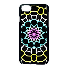 Colored Window Mandala Apple Iphone 7 Seamless Case (black)