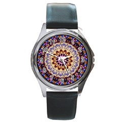 Dreamy Mandala Round Metal Watch