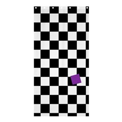Dropout Purple Check Shower Curtain 36  X 72  (stall)