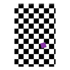 Dropout Purple Check Shower Curtain 48  X 72  (small)