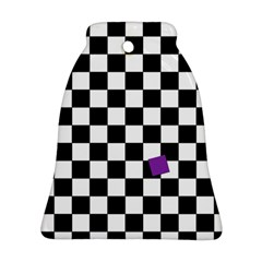 Dropout Purple Check Bell Ornament (two Sides)