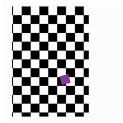 Dropout Purple Check Small Garden Flag (two Sides)