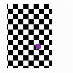 Dropout Purple Check Large Garden Flag (two Sides)