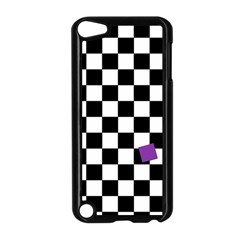 Dropout Purple Check Apple Ipod Touch 5 Case (black)